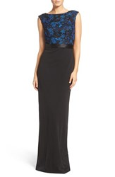 Aidan Mattox Women's Lace And Jersey Gown