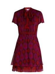 Diane Von Furstenberg Marisa Dress Red Multi