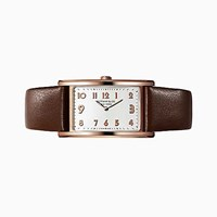 Tiffany And Co. East West Mini 2 Hand 37 X 22 Mm Watch In 18K Rose Gold.