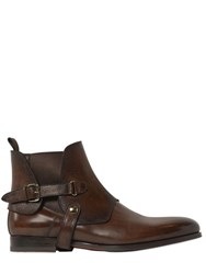 Santoni Belted Leather Chelsea Boots