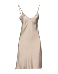Ekle' Short Dresses Beige