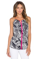 Trina Turk Daniella Tank Top Black And White