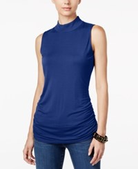 Inc International Concepts Ruched Mock Turtleneck Top Only At Macy's Goddess Blue