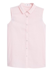 Mango Sleeveless Cotton Shirt