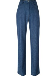 Fendi Vintage High Waisted Trousers Blue