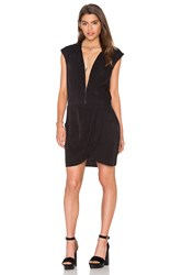 The Kooples Zipper Front Dress Black