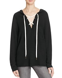 Project Social T Lace Up Hoodie 100 Bloomingdale's Exclusive Black