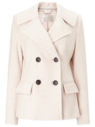 Windsmoor Boiled Wool Double Breasted Shirt Coat Light Neutral