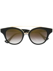 Dita Eyewear Round Framed Sunglasses Black