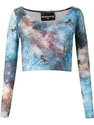 Skinbiquini Cropped 'Unicorn' Top Blue