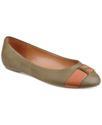Tommy Hilfiger Pearla2 Ballet Flats Women's Shoes Olive
