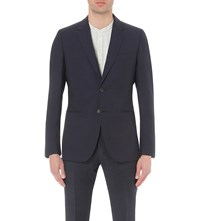 Reiss Slim Fit Wool Blazer Navy