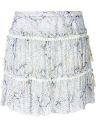 See By Chloe See By Chloe Woodstock Haze Print Skirt White