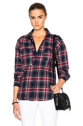 Engineered Garments Big Plaid Flannel Work Shirt In Blue Checkered And Plaid Blue Checkered And Plaid