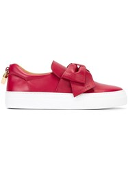 Buscemi Bow Detail Slip On Sneakers Red