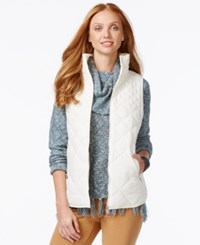 G.H. Bass And Co. Packable Quilted Vest Pearl