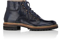 Harris Men's Leather Hiking Boots Navy