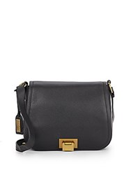 Badgley Mischka Tessa Leather Shoulder Bag Black