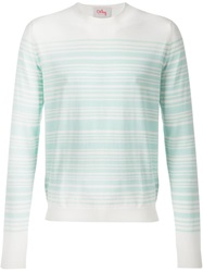 Orley 'Brooks' Striped Sweater Green