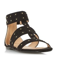Head Over Heels Libbey Studded Flat Sandals Black