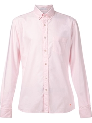 Tomas Maier Oxford Slim Button Down Shirt Pink And Purple