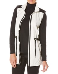 Rafaella Petite Colorblock Sleeveless Anorack Jacket Black White