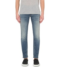 Replay Slim Tapered Jeans Mid Blue