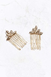 Urban Outfitters Ornate Foliage Hair Comb Set Gold