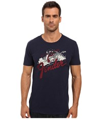 Lucky Brand Fender Surf Sounds Graphic Tee American Navy Men's T Shirt