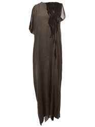 Lost And Found Ria Dunn Printed Maxi Dress Grey