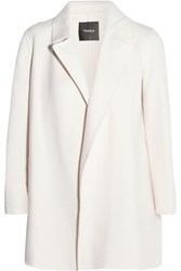 Theory Clairene Brushed Wool And Cashmere Blend Jacket Cream