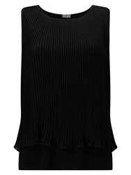 Phase Eight Polly Pleat Top Black