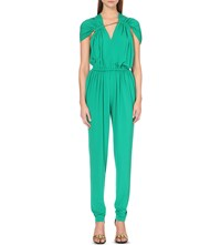 Lanvin Draped Jersey Jumpsuit Mint Green