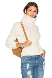 Tommy Hilfiger Gigi For Chunky Cable Roll Neck Sweater Ivory