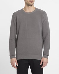 Iriedaily Grey Blend Vegan Striped Structure Round Neck Sweater