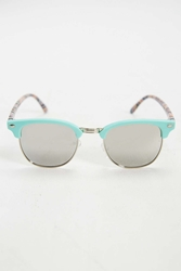 Urban Outfitters Turquoise Festival Bold Brow Sunglasses Green