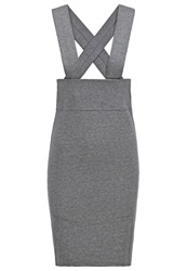 Noisy May Nmmass Pencil Skirt Medium Grey Melange Mottled Grey
