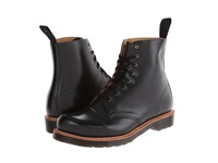 Dr. Martens Charlton 8 Eye Toe Cap Boot Black Polished Smooth Men's Lace Up Boots