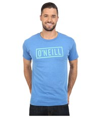 O'neill Block Short Sleeve Tee Heather Royal Men's T Shirt Gray