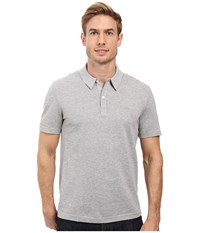 Lacoste Short Sleeve Mercerized Pique Polo W Tonal Embroid Croc Silver Grey Chine Men's Short Sleeve Pullover Gray
