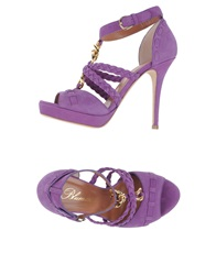 Blumarine Platform Sandals Purple