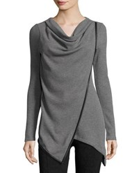 Marc New York Asymmetric Draped Tunic Gry Heathe