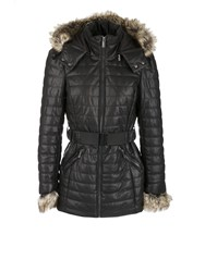 Morgan Hooded Down Coat Black