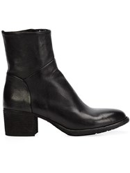 Officine Creative Creased Effect Ankle Boots Black