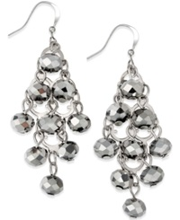 Style And Co. Silver Tone Rondelle Bead Drop Earrings