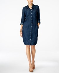 Inc International Concepts Button Down Shirt Dress Only At Macy's