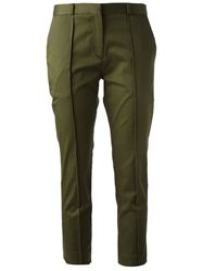 Victoria Victoria Beckham Cropped Tapered Trousers Green