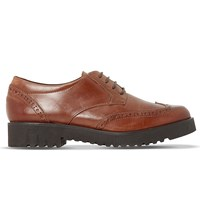 Dune Feean Leather Brogues Tan Leather