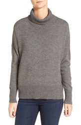 Eileen Fisher Women's Wool Blend Jersey Turtleneck Sweater Ash