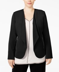 Alfani Plus Size Draped Blazer Only At Macy's Deep Black